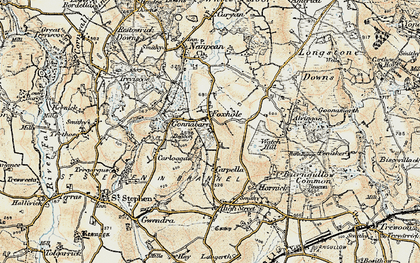 Old map of Carpalla in 1900