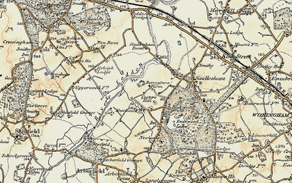 Old map of Carter's Hill in 1897-1909
