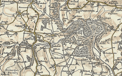 Old map of Carthamartha in 1899-1900