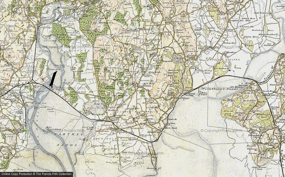 Old Map of Map of Cartmel in 1903-1904