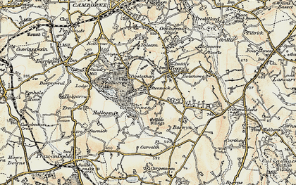 Old map of Carwynnen in 1900