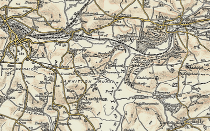 Old map of Carzantic in 1899-1900