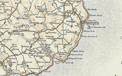 Old map of Castallack in 1900