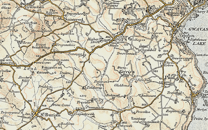 Old map of Catchall in 1900