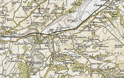 Old map of Caton in 1903-1904