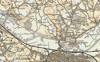 Old map of Caversham Heights in 1897-1900