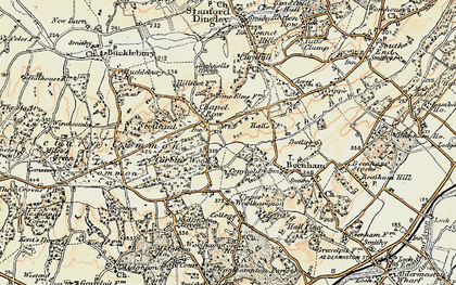 Old map of Chapel Row in 1897-1900
