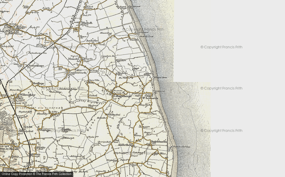 Old Map of Map of Chapel St Leonards in 1902-1903