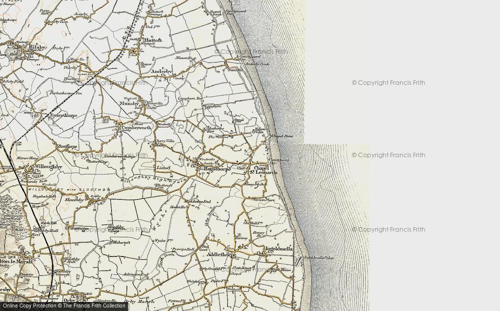 Map of Chapel St Leonards in 1902-1903