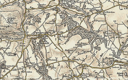 Old map of Charaton Cross in 1900