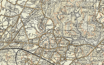 Old map of Cheapside in 1897-1909