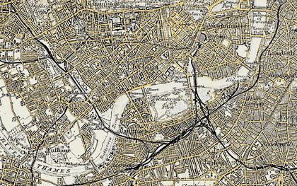 Old map of Chelsea in 1897-1909