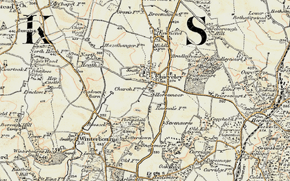 Old map of Chieveley in 1897-1900
