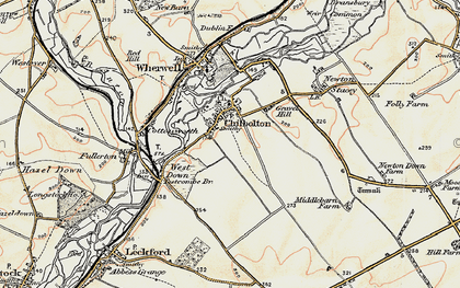 Old map of Chilbolton in 1897-1900