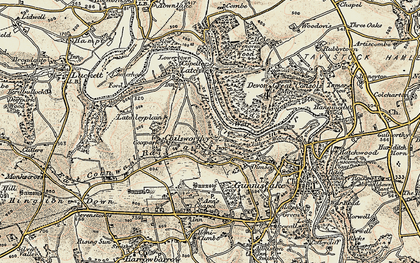 Old map of Chilsworthy in 1899-1900