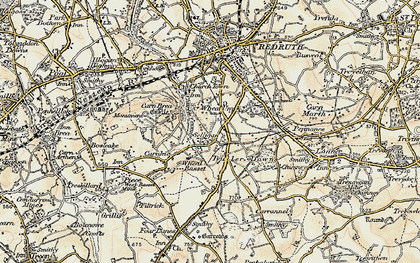 Old map of Church Coombe in 1900