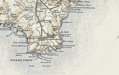 Old map of Church Cove in 1900