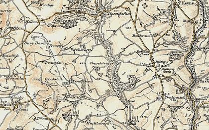 Old map of Churchbridge in 1900