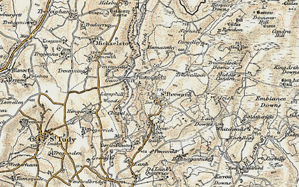 Old map of Churchtown in 1900