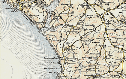 Old map of Chyvarloe in 1900