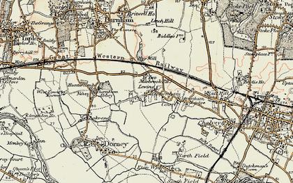 Old map of Cippenham in 1897-1909