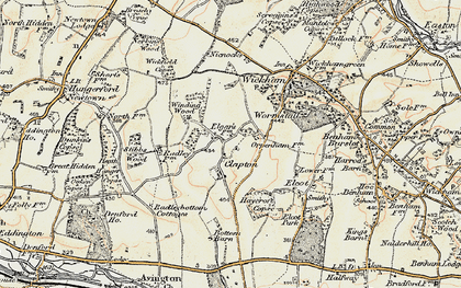 Old map of Clapton in 1897-1900