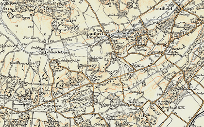 Old map of Clay Hill in 1897-1900