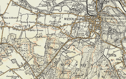 Old map of Clewer Green in 1897-1909