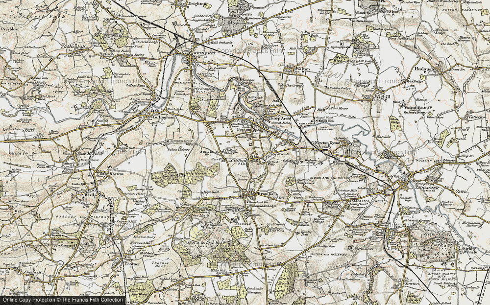 Old Map of Map of Clifford