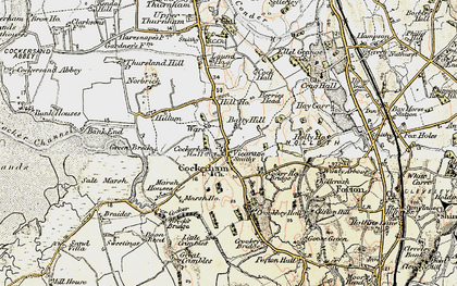 Old map of Cockerham in 1903-1904