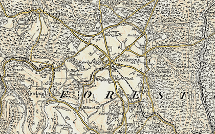 Old map of Coleford in 1899-1900