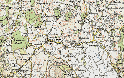 Old map of Crosthwaite in 1903-1904
