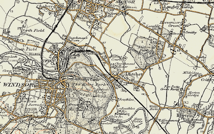 Old map of Datchet in 1897-1909