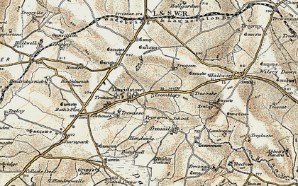 Old map of Davidstow in 1900