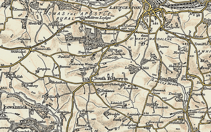 Old map of Daw's House in 1899-1900