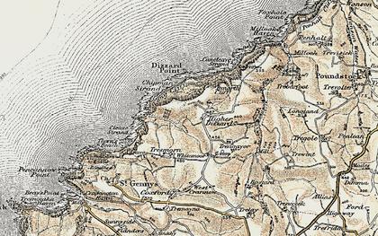 Old map of Dizzard in 1900