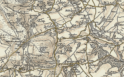 Old map of Downgate in 1900