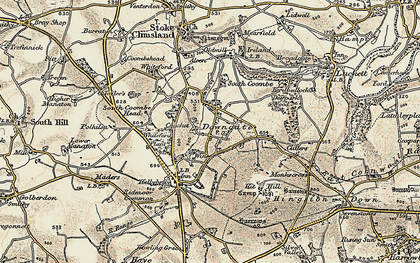 Old map of Downgate in 1899-1900