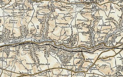 Old map of Drawbridge in 1900