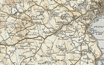 Old map of Drift in 1900