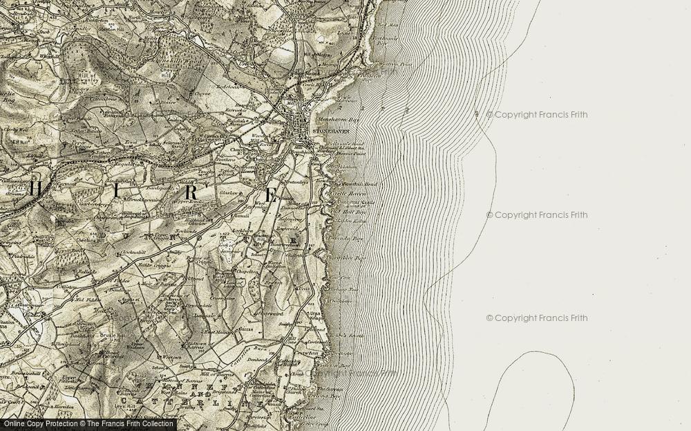 Map of Dunnottar Castle