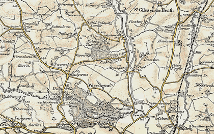 Old map of Eggbeare in 1900