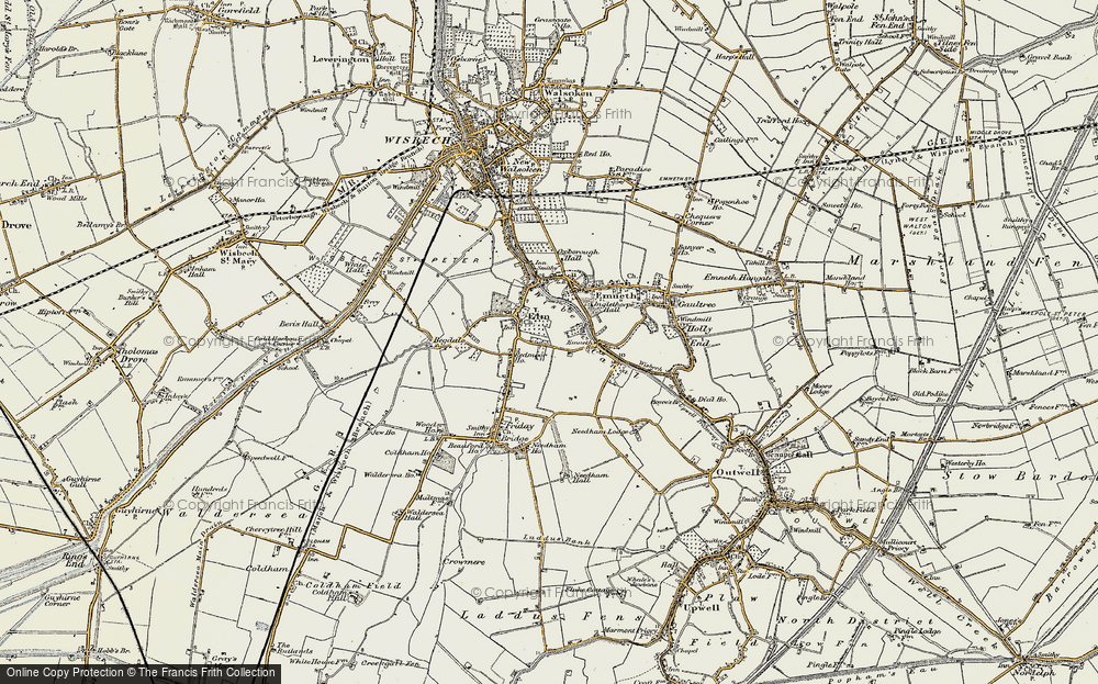 Old Map of Map of Elm