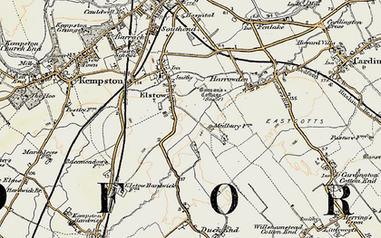 Old map of Elstow in 1898-1901
