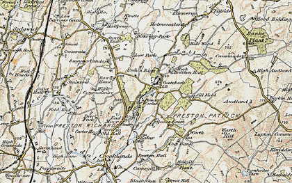 Old map of Endmoor in 1903-1904