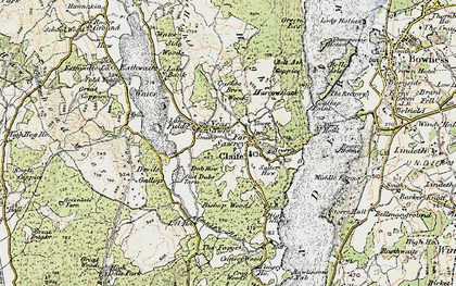 Old map of Far Sawrey in 1903-1904