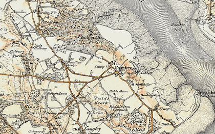 Old map of Fawley in 1897-1909