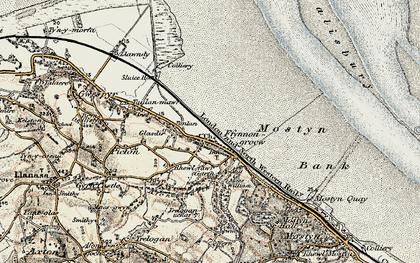 Old map of Ffynnongroyw in 1902-1903