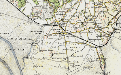 Old map of Flookburgh in 1903-1904