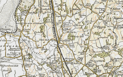 Old map of Galgate in 1903-1904